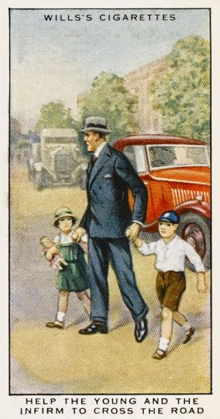 'Help the young to cross the road.&#39