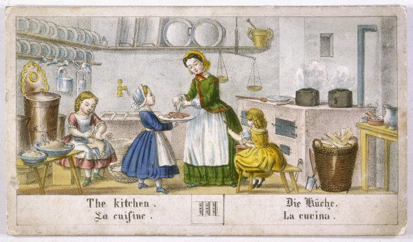 Children helping in the kitchen