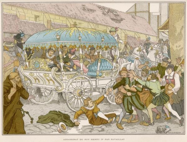 French open carriage, which provided excellent ventilation while enabling the occupant (Henri IV) to be assassinated in a public street without difficulty