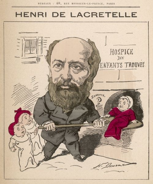 Henri de Lacretelle (1815-1895) French politician, writer and member of the Chamber of Deputies