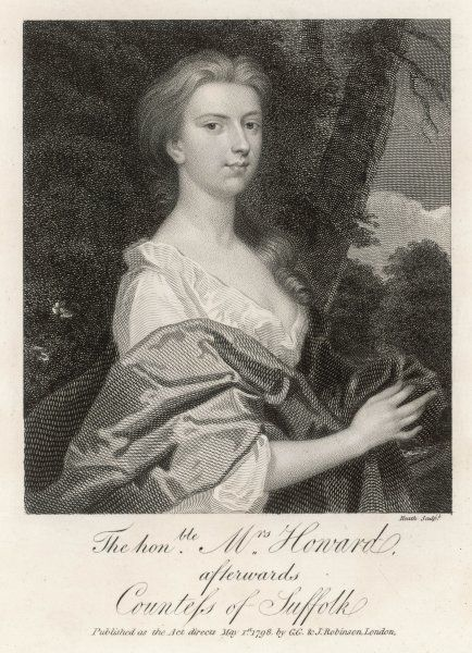 HENRIETTA HOWARD, countess of SUFFOLK, wife of Charles, 9th earl : mistress of George II ; subsequently married the Hon. George Berkeley