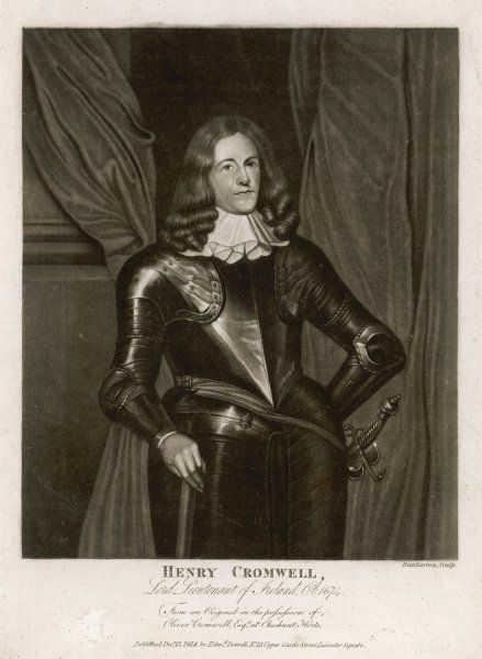 HENRY CROMWELL Lord Lieutenant of Ireland, son of Oliver Cromwell