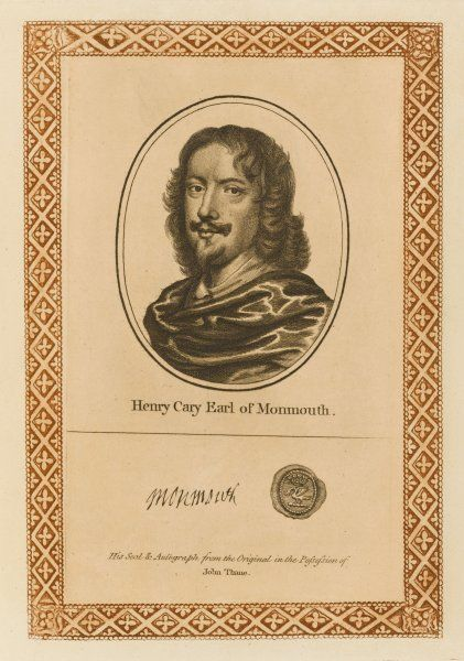HENRY CARY, second earl of MONMOUTH - statesman who avoided participation in the Civil War but lost a son at Marston Moor with his autograph Date: 1596 - 1661