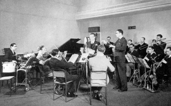 Henry Hall and the BBC Dance orchestra, 1935. Date: 1935