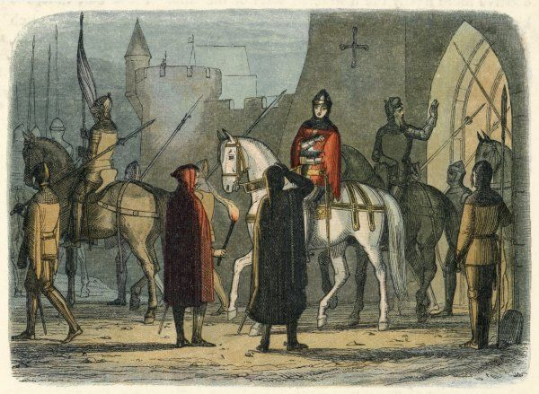 King Henry IV marches out to deal with the Lollards (followers of Wyclif) who are revolting in London - 'Oldcastle's Rebellion' - against being persecuted