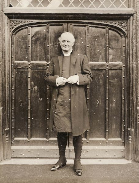 Henry Russell Wakefield (1854-1933), at the time of this photograph Prebendary of St Paul's Cathedral and Dean of Norwich. He became Bishop of Birmingham in 1911