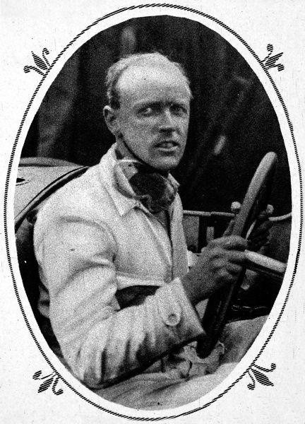Henry Segrave (1896-1930) at the wheel, one-time holder of both land and water speed records