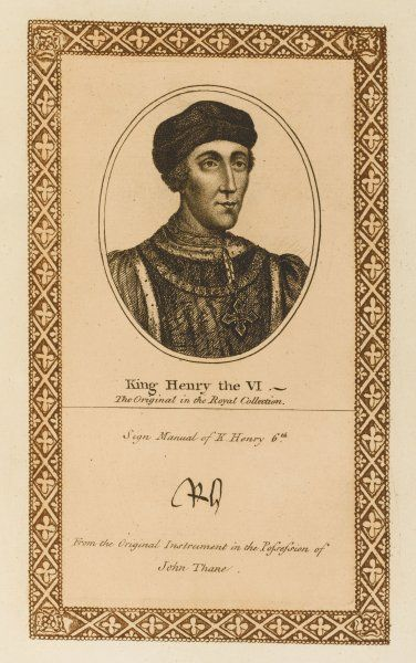 King Henry VI with his autograph