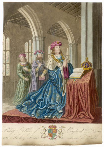 HENRY VI King of England and his court at prayer, circa 1450