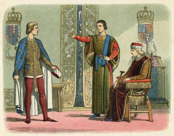Henry VI with Richard, the duke of York, heir apparent to the English crown and Somerset