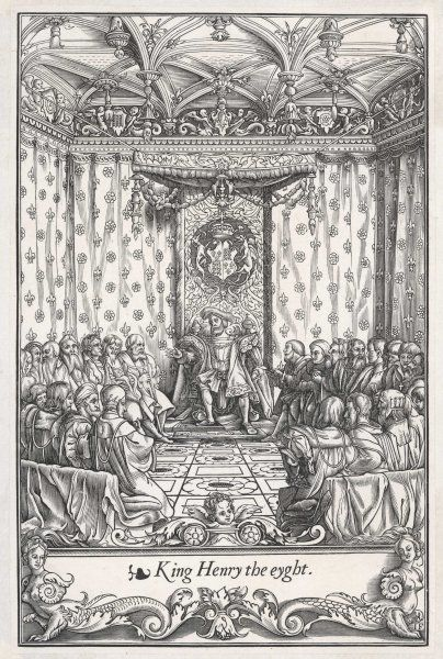 King Henry VIII in his Council Chamber
