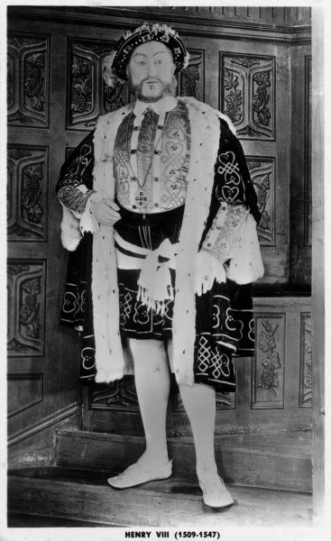 King Henry VIII model at Madame Tussauds waxwork museum in London Date: c. 1910s