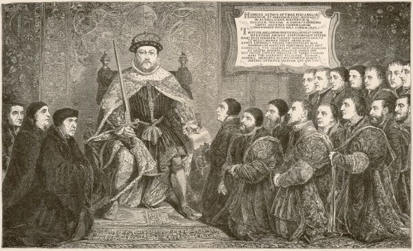 KING HENRY VIII - he grants a charter to the Barber-Surgeons