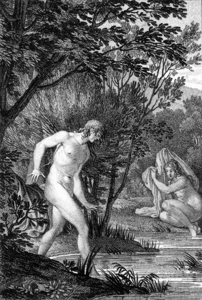 Hermaphroditus, son of Hermes and Aphrodite, his beauty captivated the nymph Salmacis ; she prayed to be so closely united to him that they became as one - and her prayer was granted Date