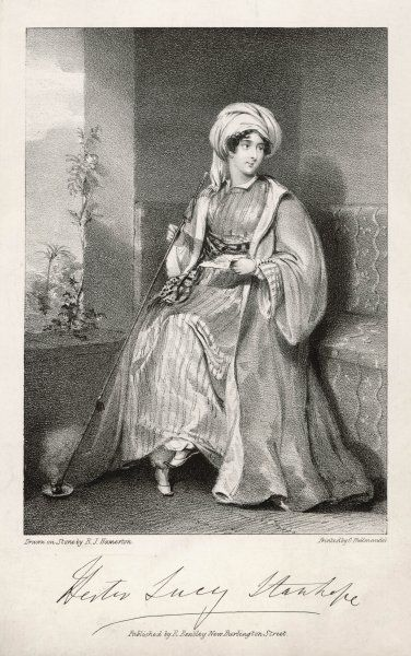 LADY HESTER LUCY STANHOPE Traveller to Asia, where she settled and adopted eastern manners