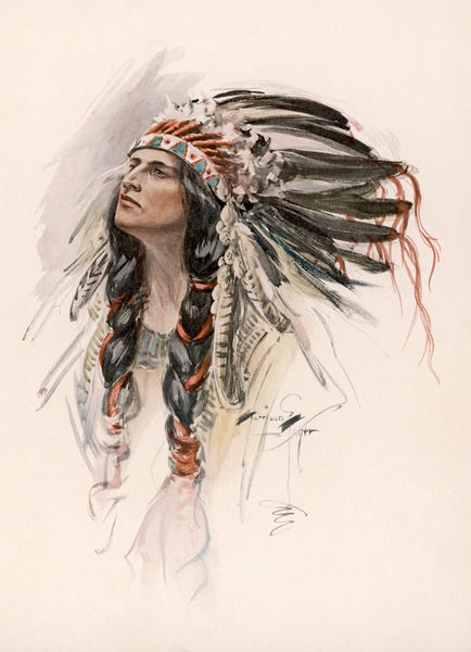 A portrait of Hiawatha