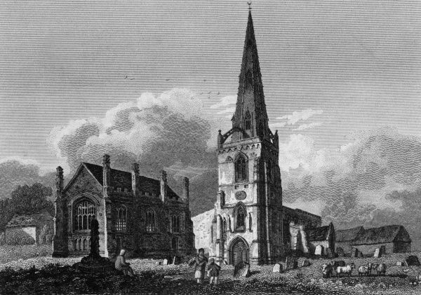 The church and free school at Higham Ferrers, Northamptonshire Date: 1815