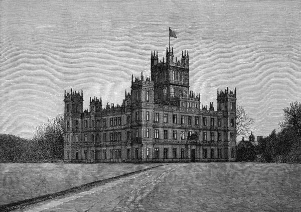 Highclere Castle (architect Sir Charles Barry). Date: 1889