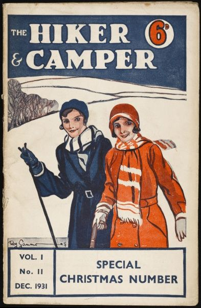 The cover of a magazine devoted to hikers and ramblers. Two young women set off on a Winter's Day in the snow