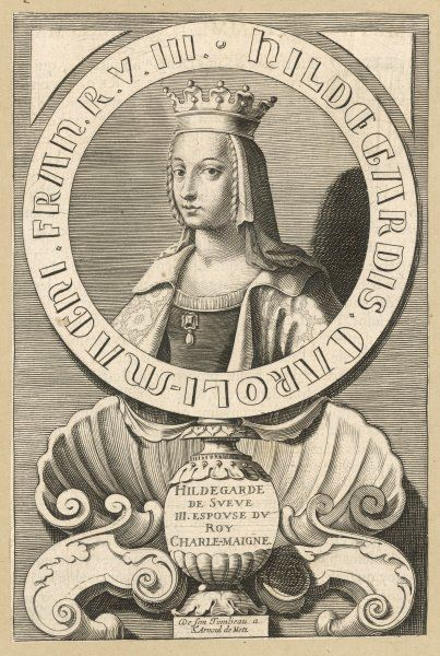 HILDEGARDE de Sueve (Swabia) third queen of Charlemagne