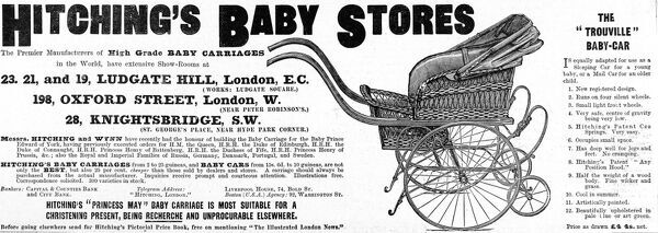 Advertisement for Hitching's Baby Stores