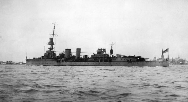 HMS Caradoc, British Caledon group C-class light cruiser, launched 1916, part of the Grand Fleet during the latter part of the First World War