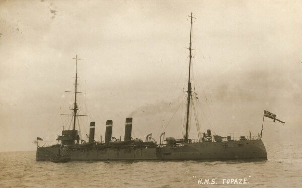 HMS Cumberland - a Monmouth-class armoured cruiser of the British Royal Navy. Date: 1917