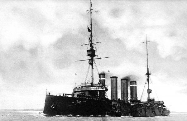 Sunk in action off Chile, H.M.S Good Hope