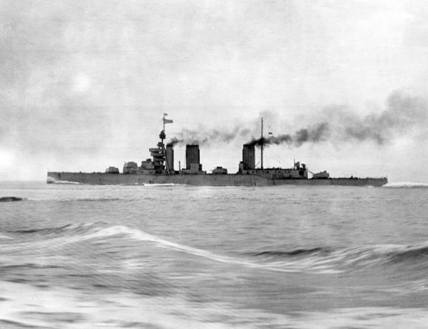 HMS Lion, British battlecruiser, launched 1910, served in various locations during the First World War, decommissioned 1922. Date: 1914-1918