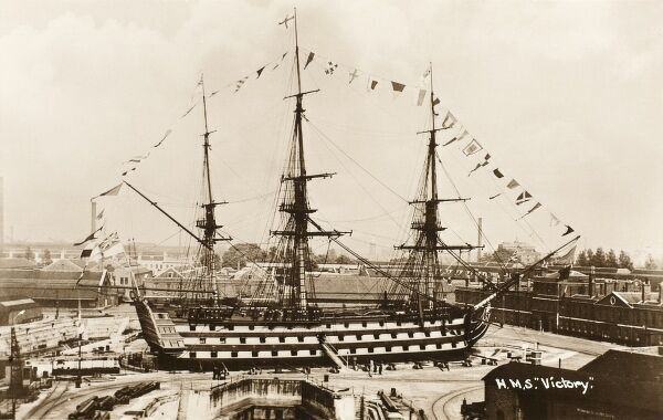 HMS Victory - Nelson's Flagship - in drydock at Portsmouth