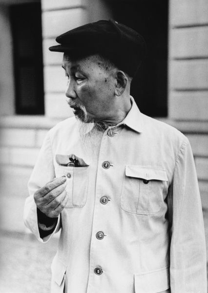 HO CHI MINH - Vietnamese revolutionary who later became Prime Minister and President of the Democratic Republic of Vietnam (North Vietnam). Pictured in Hanoi in 1967. *UNAVAILABLE FOR USE IN ASIA AT PRESENT*