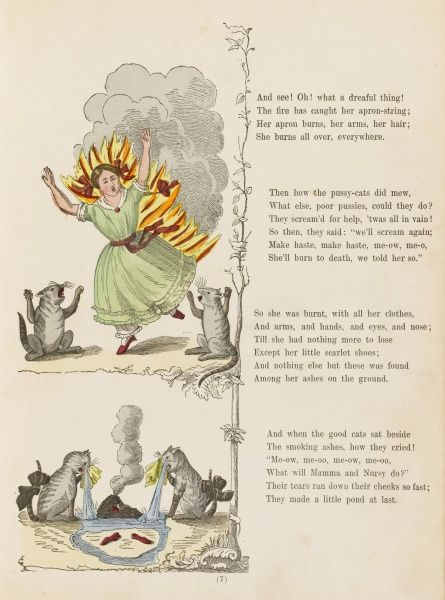 "THE DREADFUL STORY ABOUT HARRIET & THE MATCHES ""She burns all over everywhere&quot"