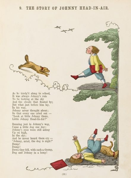THE STORY OF JOHNNY HEAD-IN- AIR Johhny collides with a dog