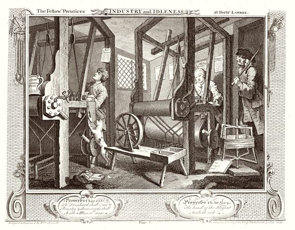 1. The fellow 'prentices at their looms