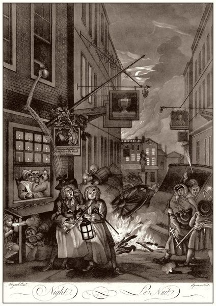 Hogarth, Four Times of the Day, 4. Night