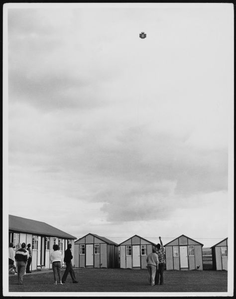The delights of Pontin's Holiday Camp, where campers can fly their kites outside their chalets