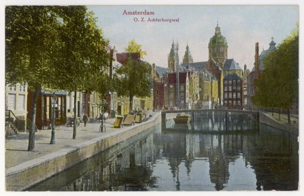 A typical canal scene in the Dutch capital, Amsterdam
