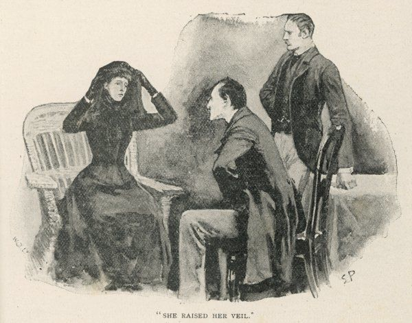 "THE ADVENTURE OF THE SPECKLED BAND ""Very early one morning, a young woman, dressed in black, came to see us...&quot"