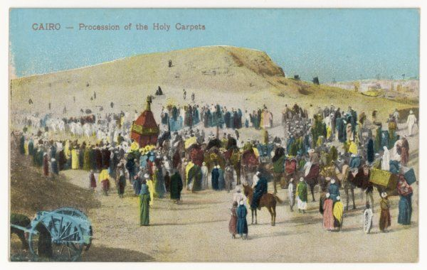 The Holy Carpet is carried to Mecca, where it is blest, and then carried back to Cairo