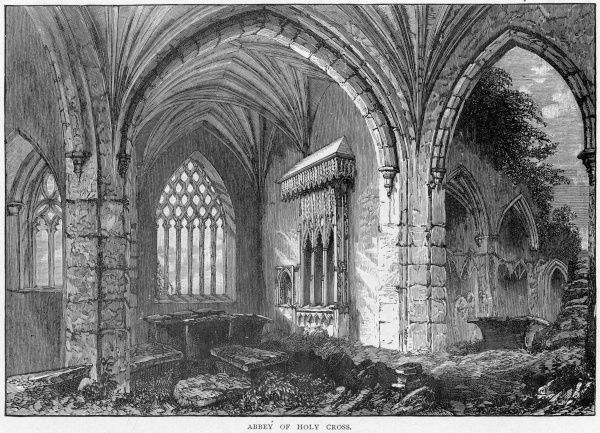 The interior of Holy Cross Abbey, Tipperary, Ireland, built in the early 15th century