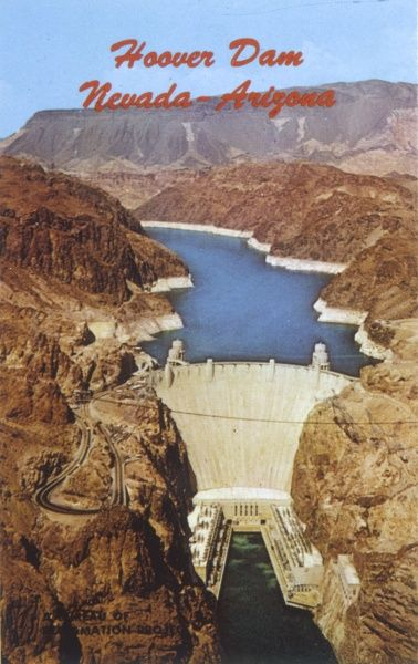 At the time of its construction, the Boulder Dam (subsequently renamed the Hoover Dam) on the Colorado River, is the world's largest