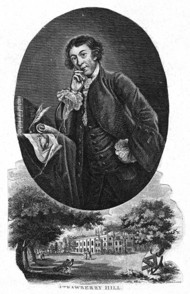 HORACE WALPOLE writer and diarist, author of 'The Castle of Otranto' etc. Date: 1717 - 1797