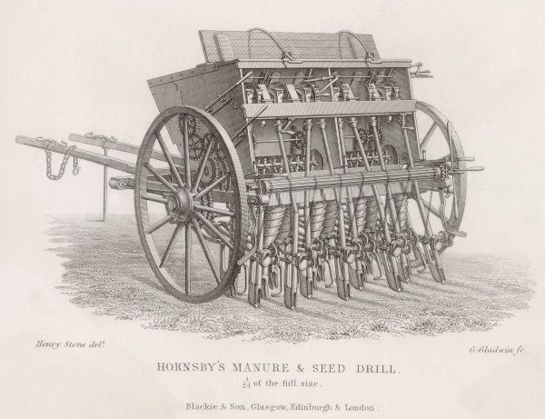 HORNSBY'S DRILL designed to be used either for manure or for seed