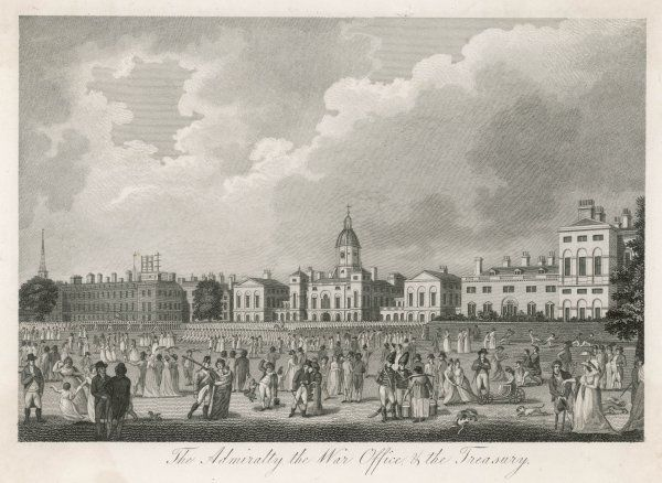 Horse Guards Parade, after it had been cleared as a parade ground, much frequented by Londoners as a social venue