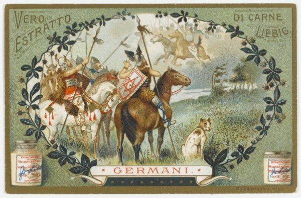 GERMANI : the dread aroused by the horseman of ancient Germany is expressed in the Valkyrie, mythical warriors whom the living tribesmen seek to emulate