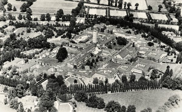 Aerial view of the Horton Mental Hospital at Epsom, Surrey
