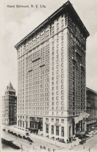 Hotel Belmont, New York City, America