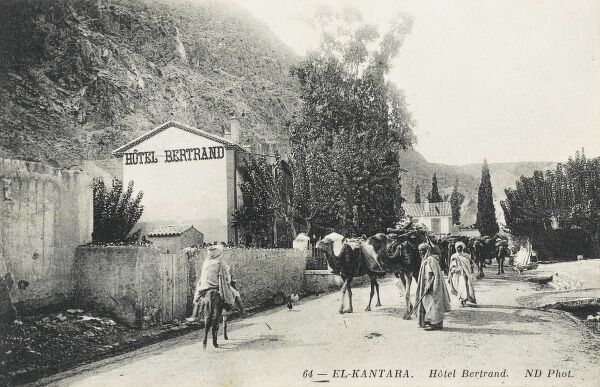 The Hotel Bertrand at El-Kantara, a suburb of Constantine, Algeria