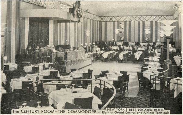 The Century Room at the Hotel Commodore, New York City, America