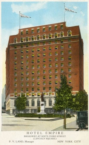 Hotel Empire on Broadway and 63rd Street, New York City, America